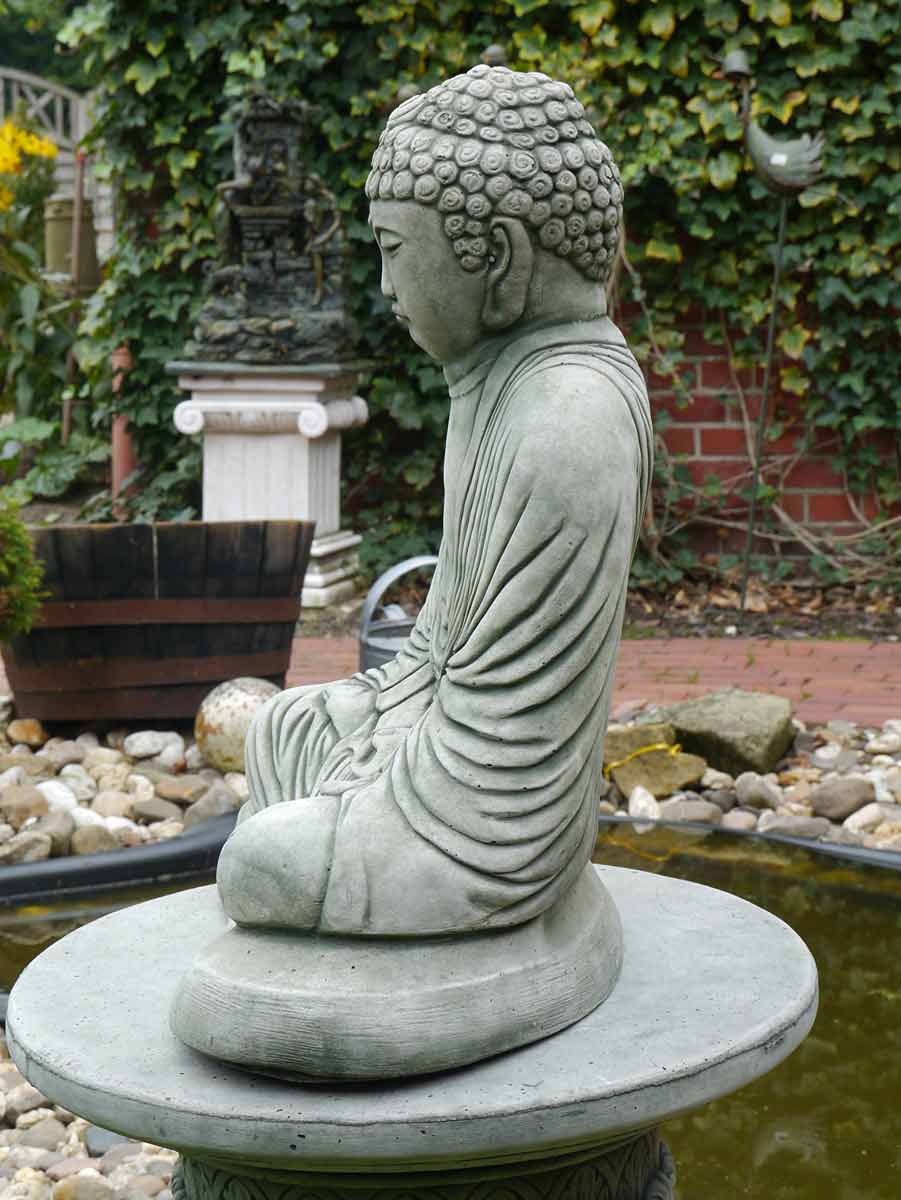 buddha figur statue f r haus und garten aus beton figuren. Black Bedroom Furniture Sets. Home Design Ideas