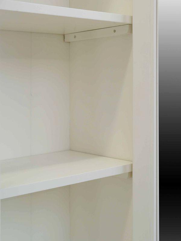 Sekretär Vitrinenaufsatzsekretär Landhaus Stil Massivholz in weiß (3883) – Bild 7