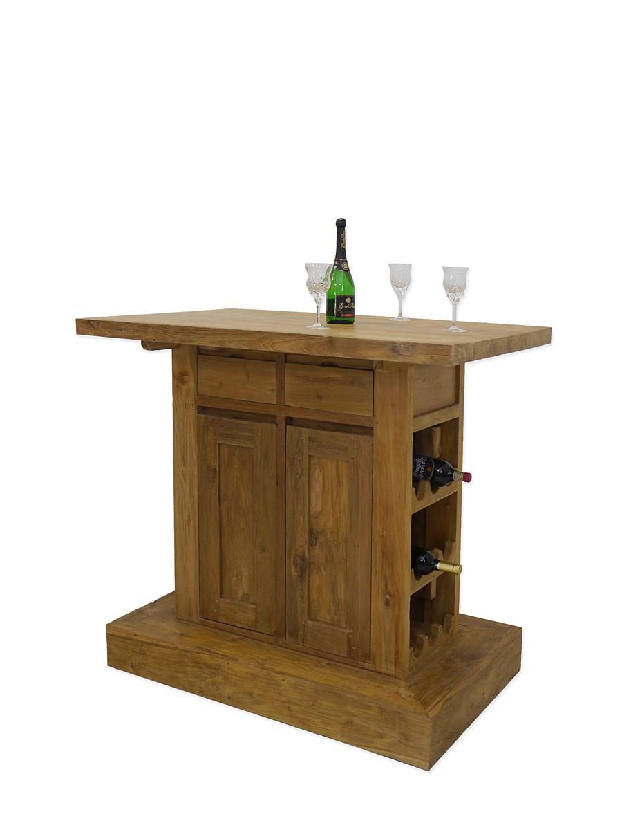 theke bar tresen hausbar landhausstil teakholz massiv unbehandelt 3960 theken. Black Bedroom Furniture Sets. Home Design Ideas