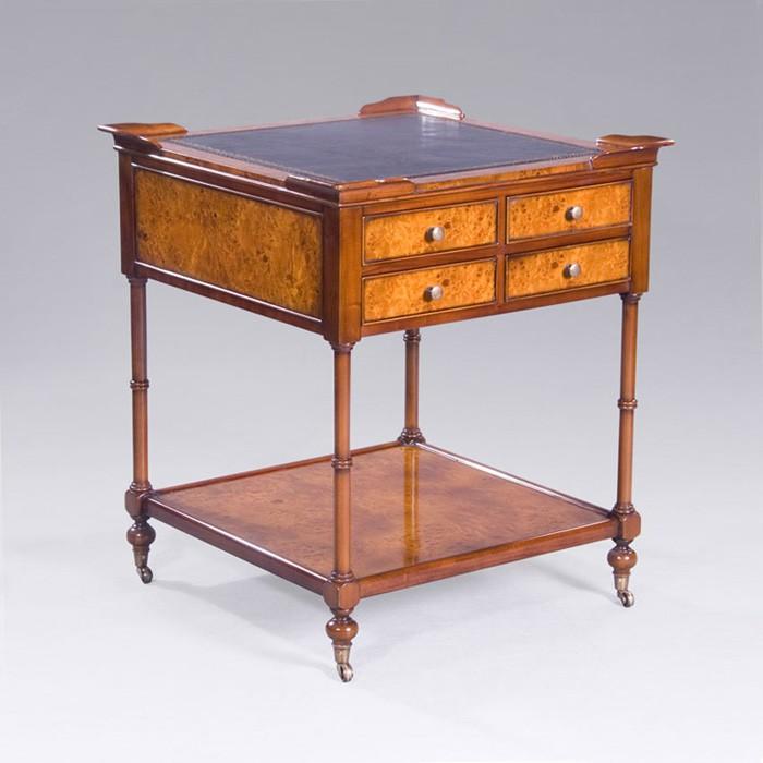 Tisch Beistelltisch Mahagoni mit Wurzelholz Furnier im englischen Stil (3963) – Bild 1