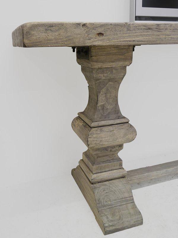 Wandtisch Tisch Konsolentisch TV-Tisch 220 cm altes Pappelholz Antik Stil (3964) – Bild 3