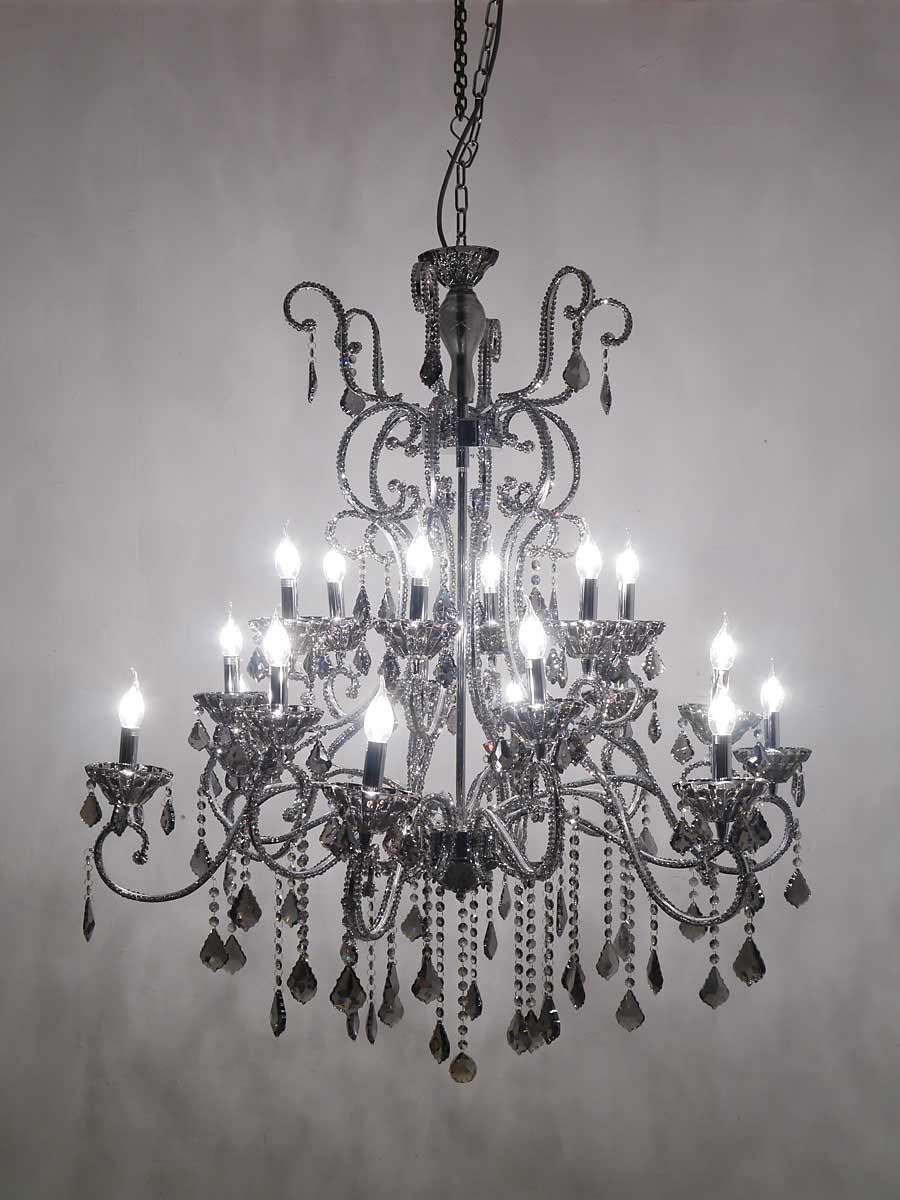 kristallleuchter kronleuchter h ngelampe 18 flammig smocky. Black Bedroom Furniture Sets. Home Design Ideas