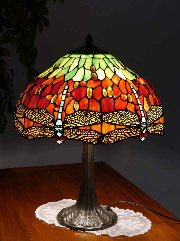 Lampe Leuchte Tischlampe Tischleuchte im Tiffany-Stil Libelle (4040) – Bild 2