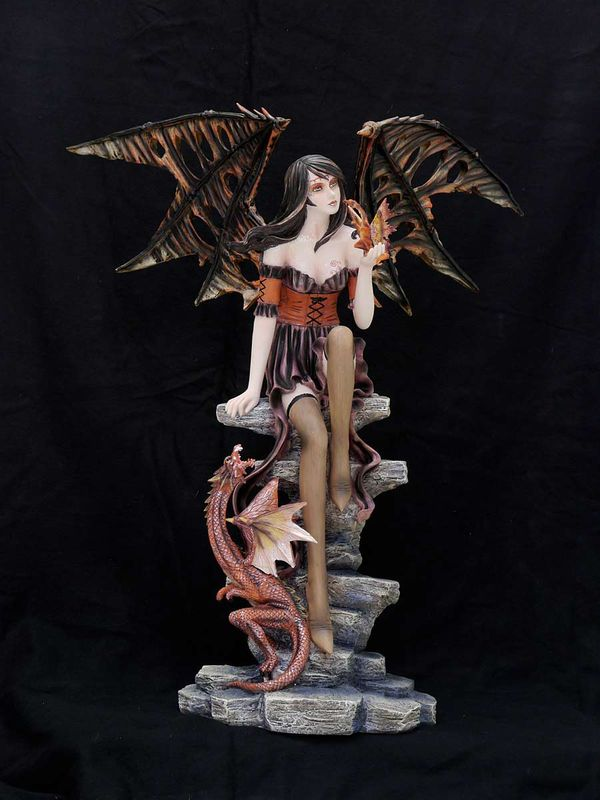 Elfe Fee Darkona mit Drachen Dark Fairy (4116)