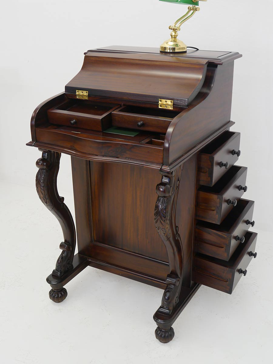 Sekretär Schreibsekretär Schreibmöbel Davenport Massivholz Antik ...