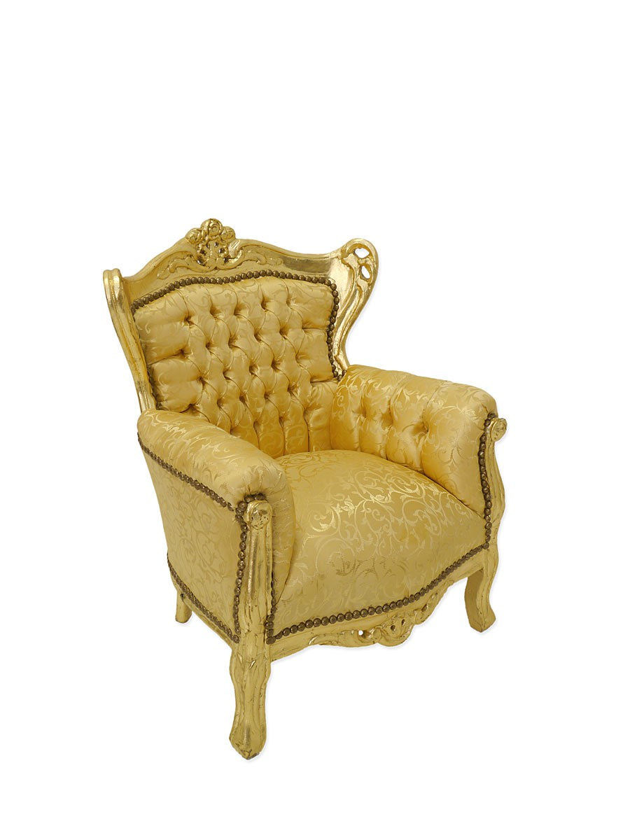 Sessel Kinder Sessel Sitzmobel Barock Stil In Gold 4311 Mobel