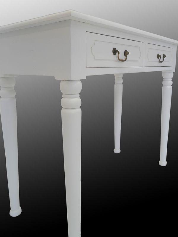 Wandtisch Konsolentisch Tisch Antik Stil Massivholz Farbton weiß (4326) – Bild 2