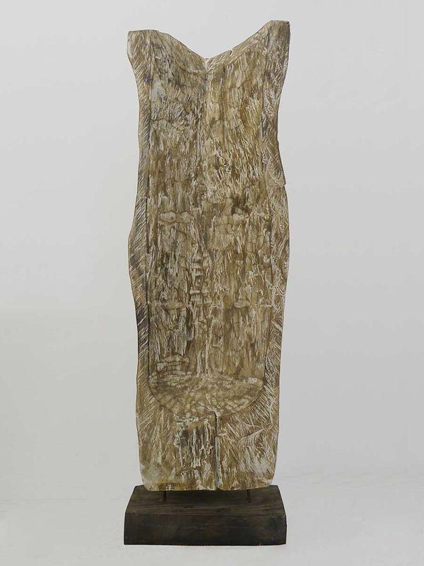 Skulptur Holzfigur Holzmaske Raumteiler Handarbeit aus Massivholz (4329) – Bild 3