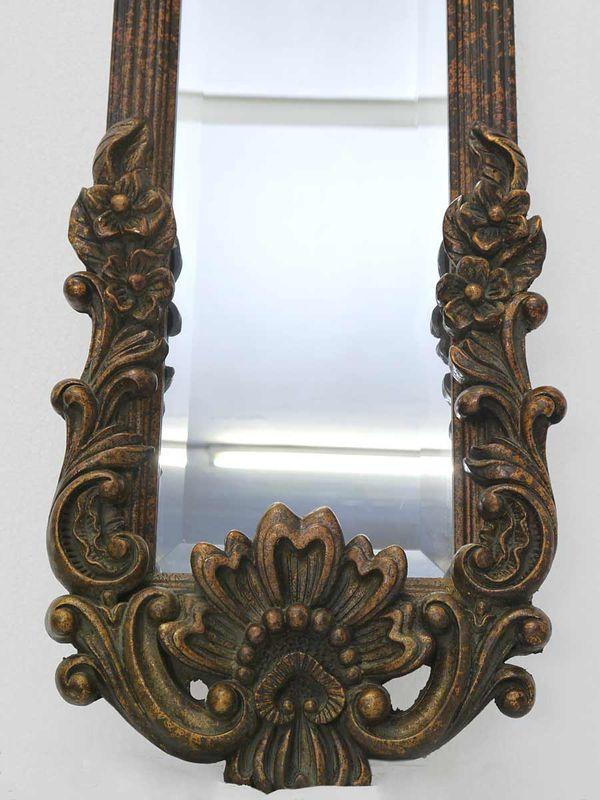 Spiegel Wandspiegel Garderobenspiegel im Antiken Stil in kupfer-schwarz (4425) – Bild 3