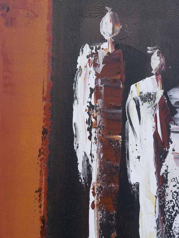 Bild Wandbild Ölbild mit Keilrahmen abstrakt 90x90x4 cm (4490) – Bild 2