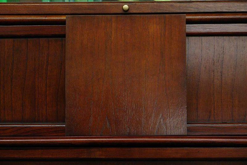 Stuhl Bürostuhl mit Leder und schmalen Armlehnen – Bild 3
