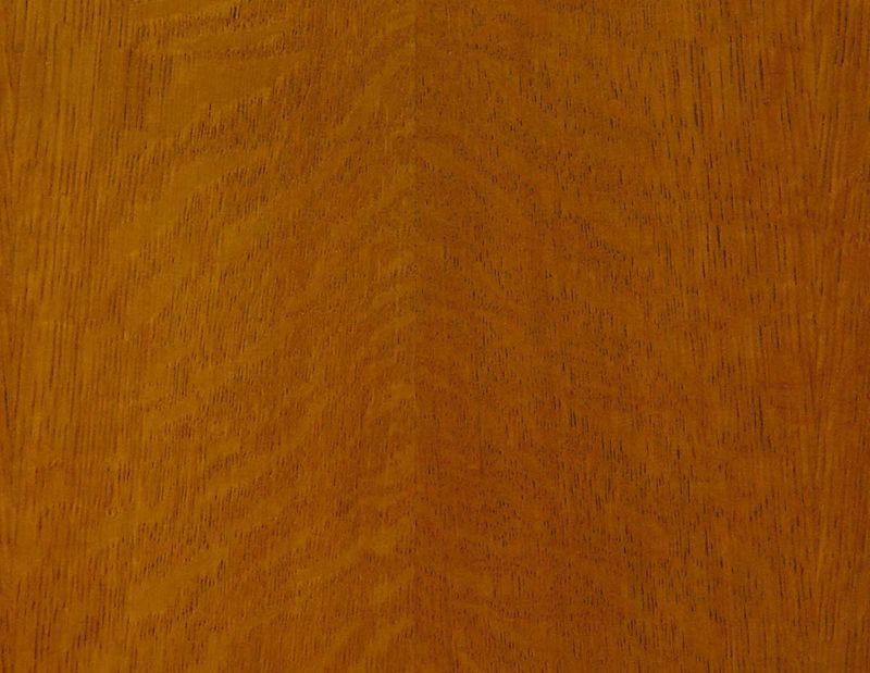 Konferenzstuhl / Armlehnstuhl aus Mahagoni mit braunem Leder (4807) – Bild 5