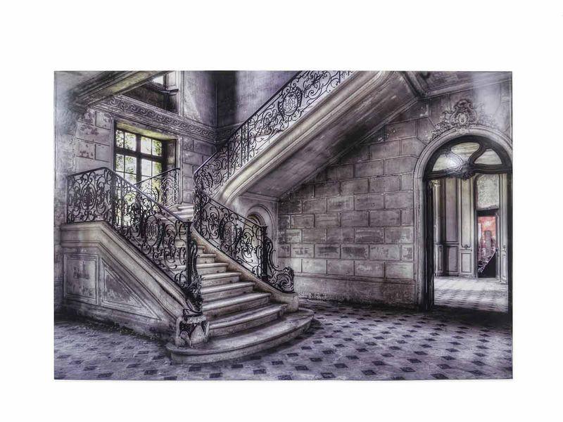 "Wandbild Alu-Kunstwerk Alu-Dibond Bild ""Treppenhaus"" 80x120 Olivier Lacou (4860) – Bild 1"