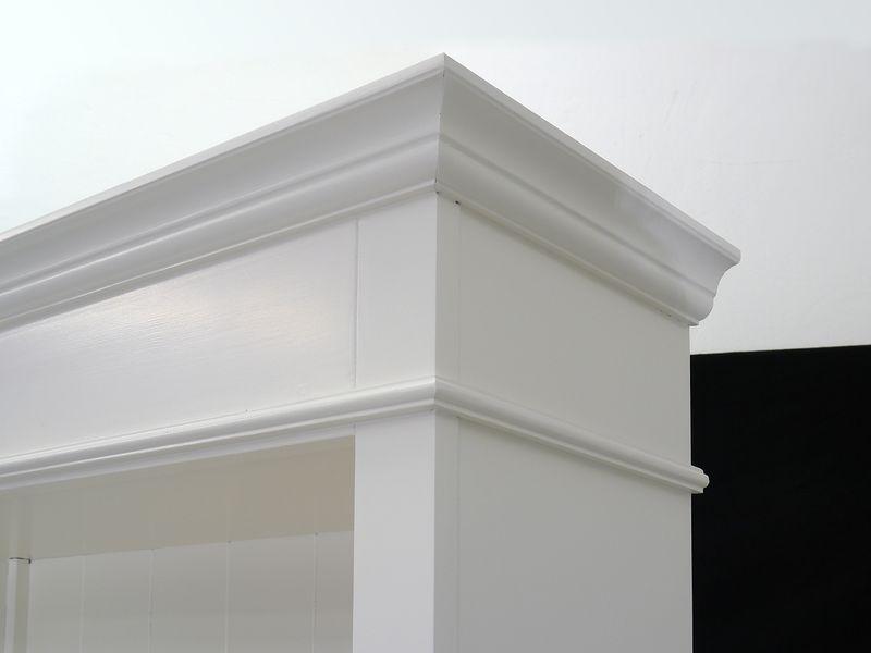 Regal Bücherregal Bücherschrank Massivholz in weiß mit 1 Schublade (4888) – Bild 4