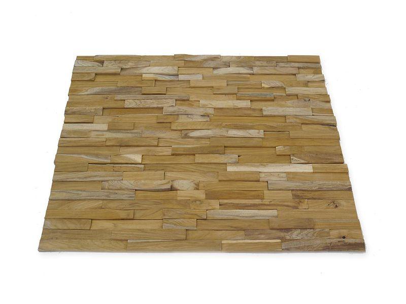 Wandverkleidung Wandpaneele Holzwand recyceltes Teakholz ca. 1 m²  Fläche (4893) – Bild 1