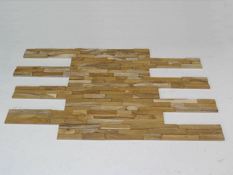 Wandverkleidung Wandpaneele Holzwand recyceltes Teakholz ca. 1 m²  Fläche (4893) – Bild 2
