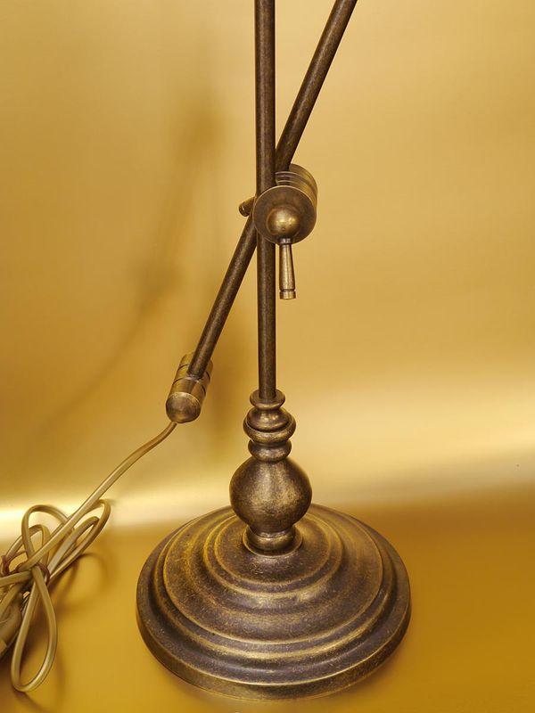 Bankerslampe Tischlampe Schreibtischlampe Messing türkisblauen Glasschirm (4913) – Bild 3