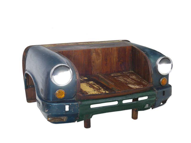 Sitzbank Bank Vintage Sitzmöbel Umbau einer Limousine aus Indien B: 163cm (4915) – Bild 1