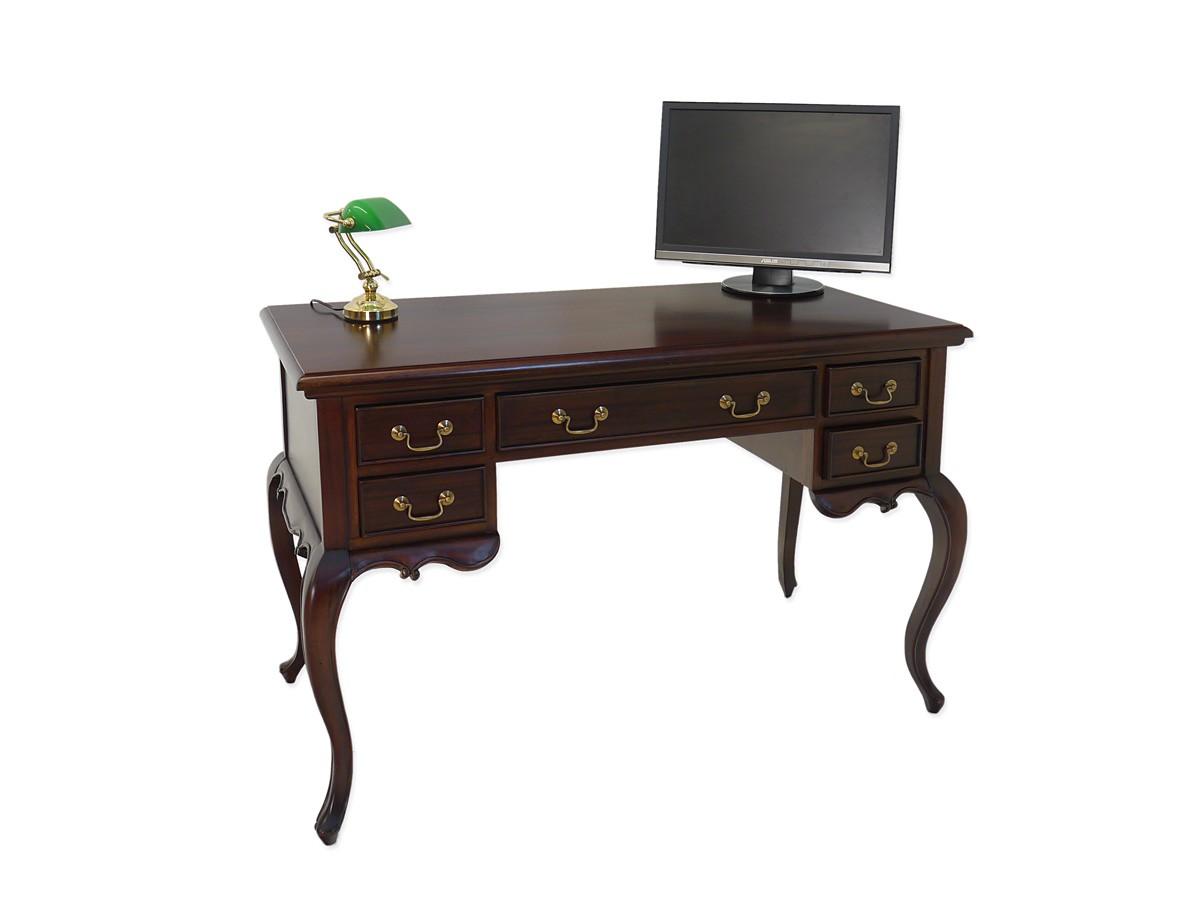 Schreibtisch empfangstisch b rotisch massivholz nussbaum for Schreibtisch dunkel