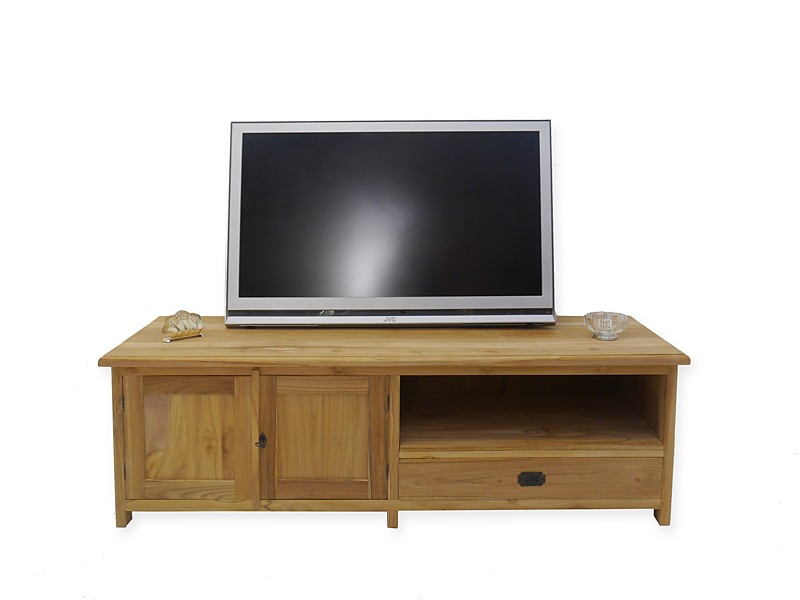 lowboard tv schrank fernsehtisch aus teakholz unbehandelt 160 cm breit 4994 m bel kommoden und. Black Bedroom Furniture Sets. Home Design Ideas