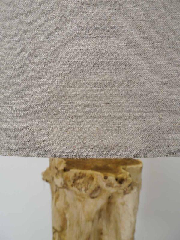 Standleuchte Stehleuchte Stehlampe Baumstamm mit Lampenschirm 153x70 cm (5046) – Bild 2