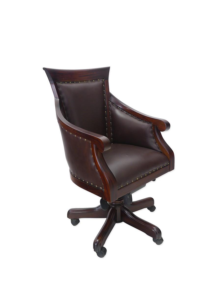 b rostuhl chefsessel b rosessel massivholz nussbaum. Black Bedroom Furniture Sets. Home Design Ideas