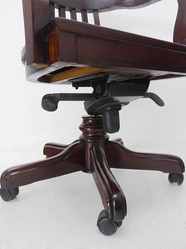 Bürostuhl Schreibtischsessel Bürosessel Massivholz mit abnehmbaren Kissen (5230) – Bild 3