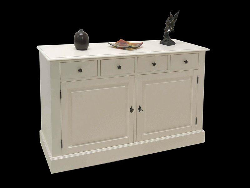 sideboard anrichte tv schrank landhausstil massivholz wei. Black Bedroom Furniture Sets. Home Design Ideas