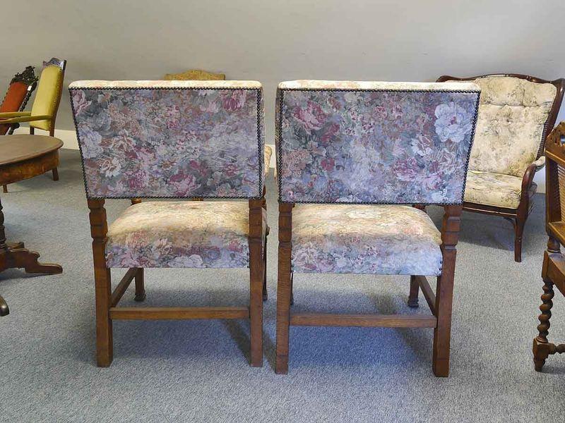2 Armlehnstühle Stuhl Sessel Stühle Antik um 1900 aus Eiche H 107 cm (5480) – Bild 2