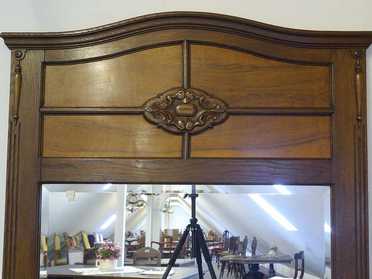 spiegel wandspiegel antik um 1930 aus eiche 5487 dekoration und sonstiges spiegel wandspiegel. Black Bedroom Furniture Sets. Home Design Ideas