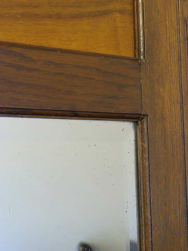 Spiegel Wandspiegel Antik um 1930 aus Eiche (5487) – Bild 3