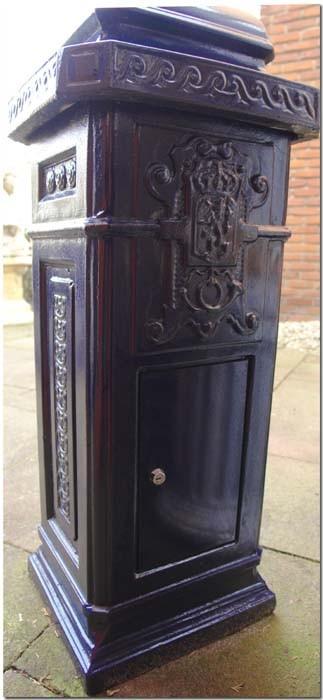 Briefkasten Postkasten Beton engl. Stil blau Standbriefkasten Postkasten (549) – Bild 5