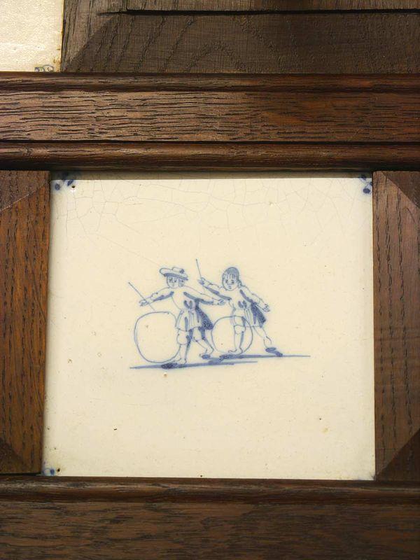 Garderobe Wandgarderobe Flurgarderobe Dielenmöbel Antik um 1880 Eiche (5578) – Bild 6