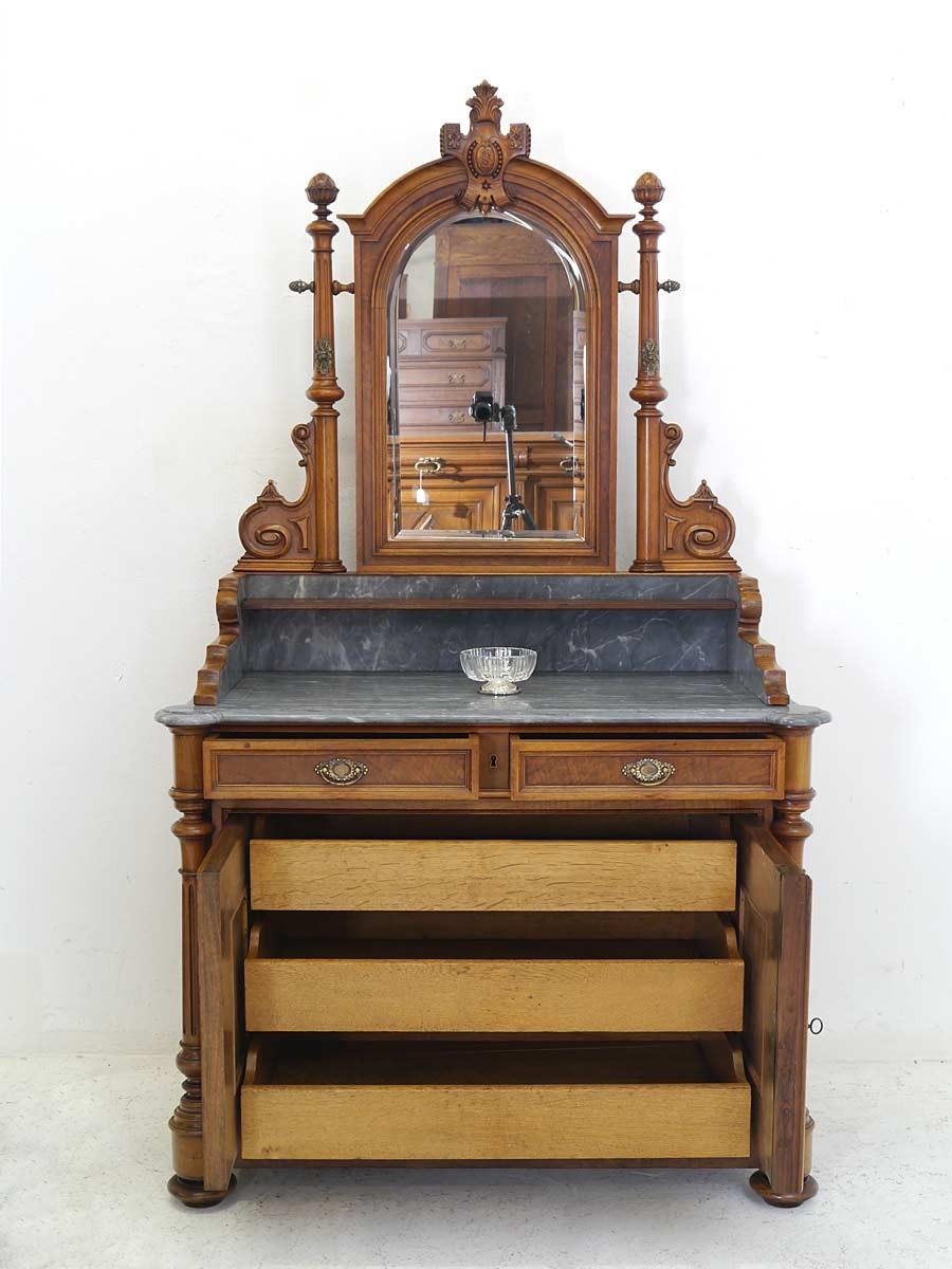 kommode spiegelkommode schminkkommode gr nderzeit um 1880 nussbaum b107cm 5594 kommoden und. Black Bedroom Furniture Sets. Home Design Ideas