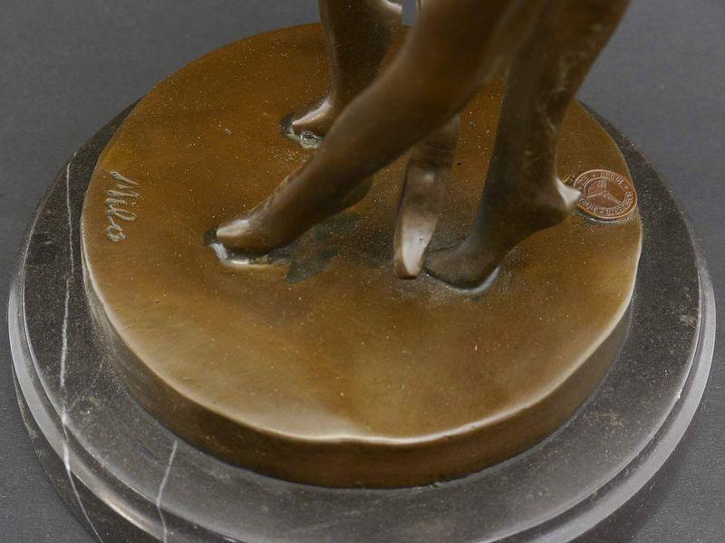 Bronze Figur Skulptur Dekoration tanzendes Paar auf Marmorsockel H: 48 cm (5701) – Bild 3