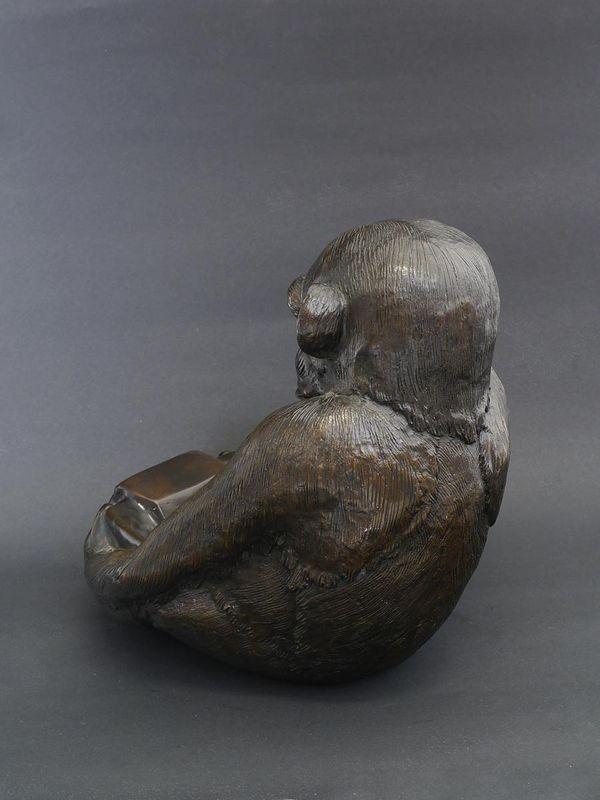Bronze Figur Skulptur Dekoration Schale sitzender Affe 25x22x23 cm (5711) – Bild 2