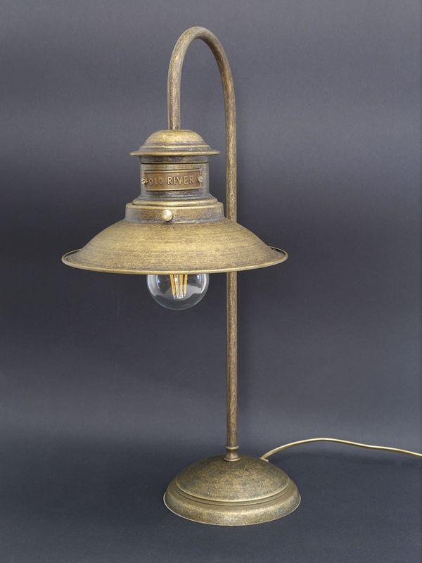 Tischlampe Schreibtischlampe Tischleuchte Messing brüniert H: 52 cm (5733) – Bild 1