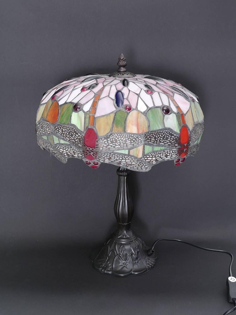 667719aae858e8 Lampe Leuchte Tischlampe Tischleuchte im Tiffany-Stil Libelle red H:44cm  (5762)