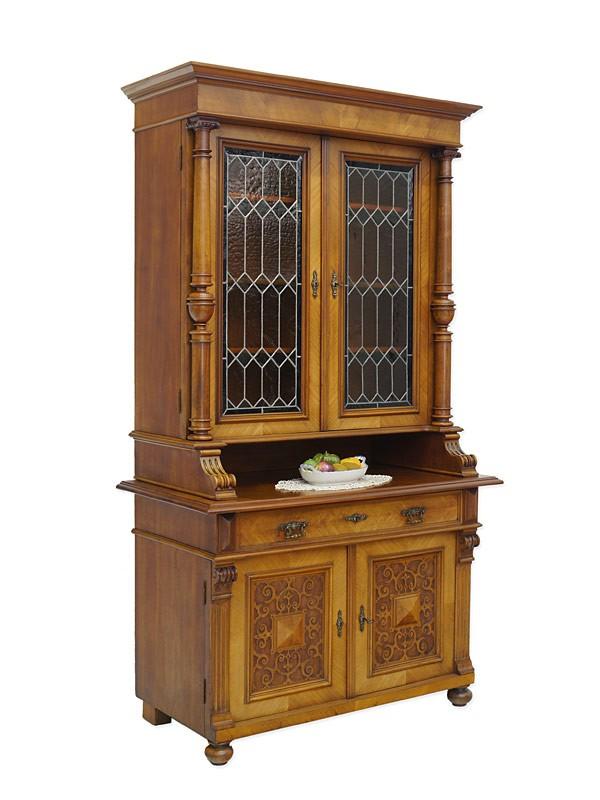 schrank antik buffetschrank b cherschrank gr nderzeit um 1880 nussbaum 5825 schr nke. Black Bedroom Furniture Sets. Home Design Ideas