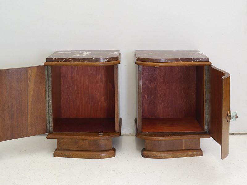 2 Nachtkonsolen Nachtschrank Nachttisch Vintage Um 1940 50 Eiche