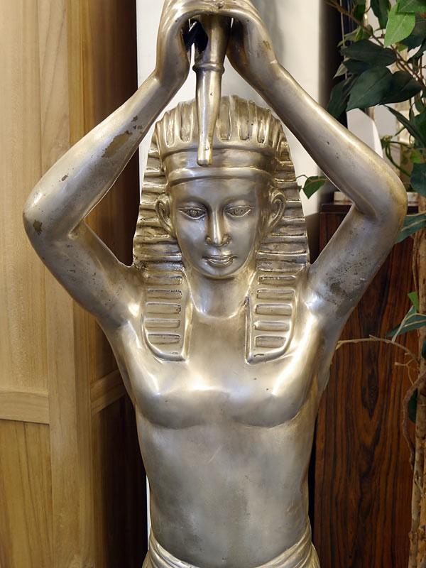 Lampe Stehleuchte Standleuchte Pharao mit einer Fackelleuchte in silber (5855) – Bild 2