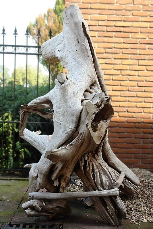 Baumstamm Baumwurzel aus massivem Teakholz Figur Skulptur (592) – Bild 3