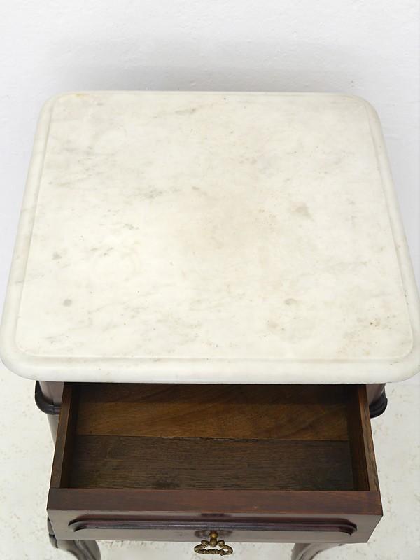 Nachtkonsole Nachtschrank Nachttisch Rokoko Stil um 1900 Mahagoni B: 43cm (5941) – Bild 3