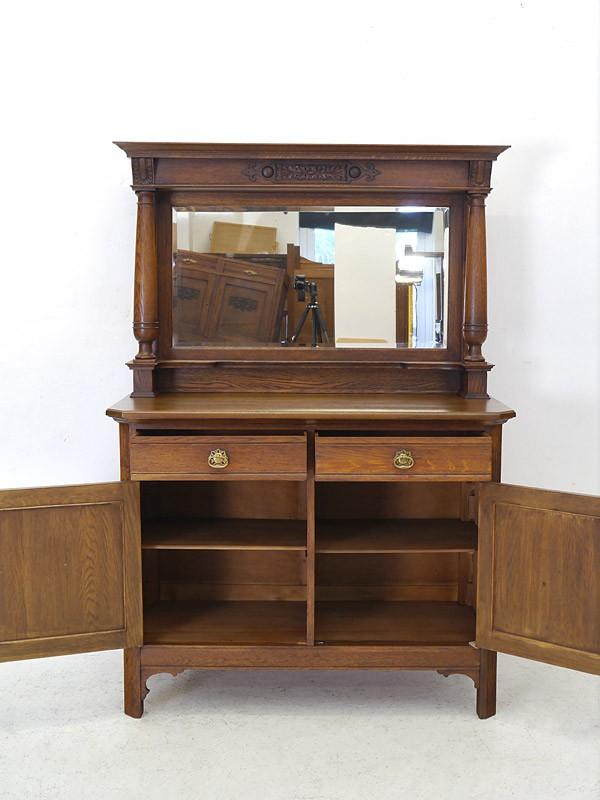 Anrichte mit Spiegelaufsatz Spiegelkommode Frisierkommode Antik um 1900 (6024) – Bild 2