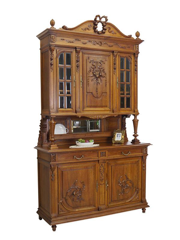buffet buffetschrank aufsatzschrank gr nderzeit um 1880 nussbaum massiv 6047 schr nke. Black Bedroom Furniture Sets. Home Design Ideas
