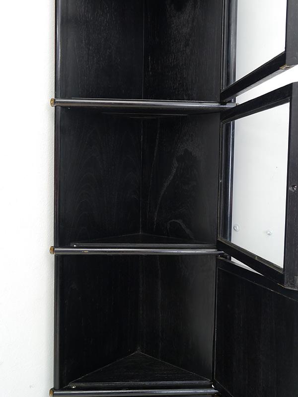Eckregal Studio Globe Wernicke Regalsystem in schwarz aus Mahagoni (6181) – Bild 3