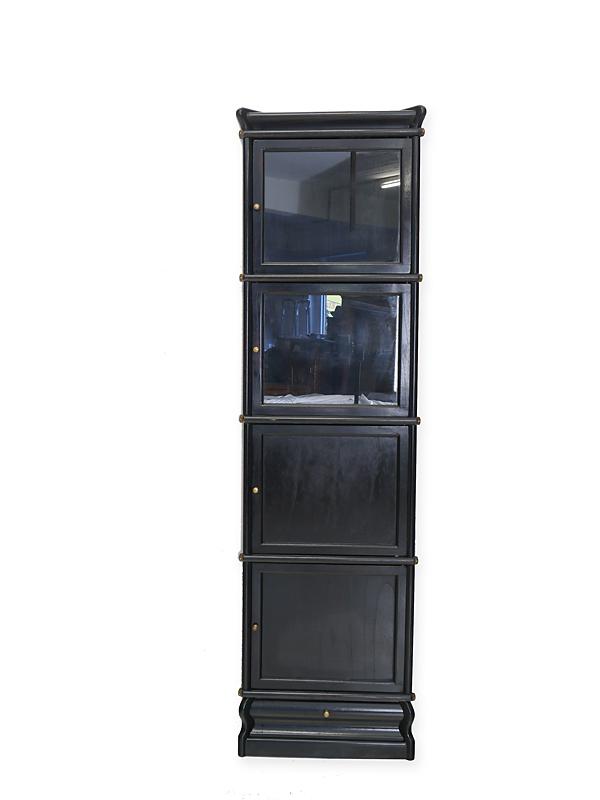 Eckregal Studio Globe Wernicke Regalsystem in schwarz aus Mahagoni (6181) – Bild 1