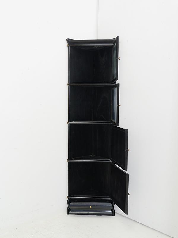 Eckregal Studio Globe Wernicke Regalsystem in schwarz aus Mahagoni (6181) – Bild 2