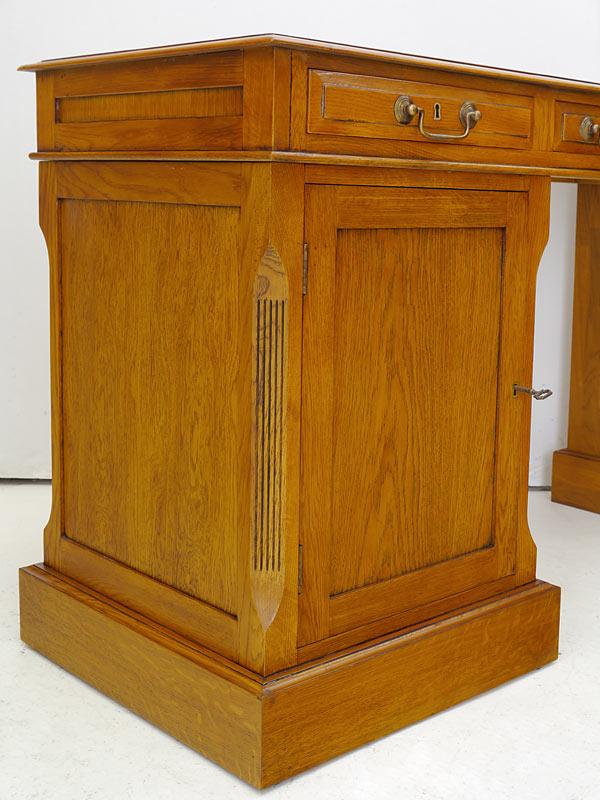 """Schreibtisch Computerschreibtisch """"Studio Globe Wernicke"""" massiv mit Leder (6214) – Bild 6"""