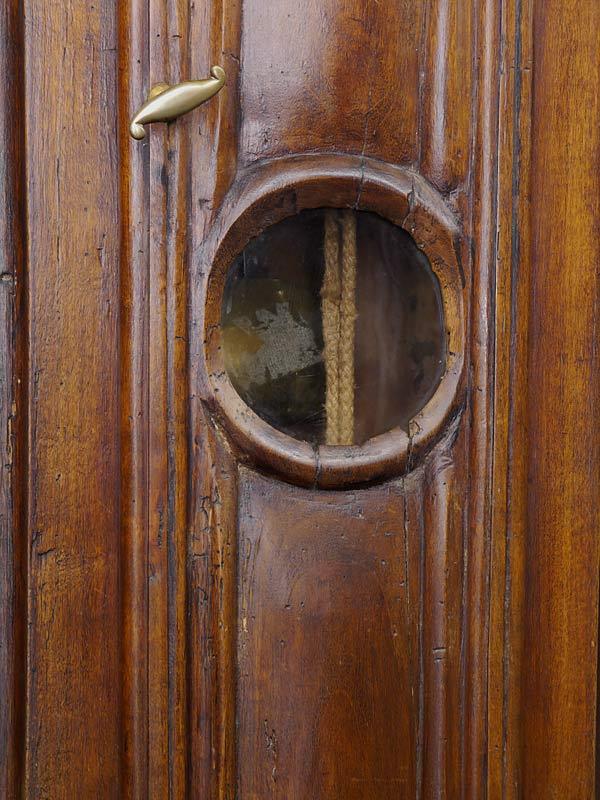 Standuhr Bodenstanduhr Antik Uhr um 1800 aus Obstholz (6277) – Bild 7
